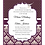 Thumbnail: Damask Eggplant Wedding / Event Invitation