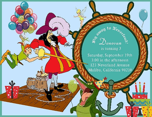 Peter Pan Children Party Invitation