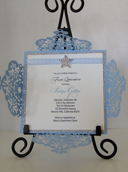 Frozen Snowflake Wedding and Event Invitation