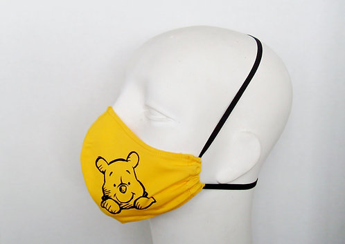 Pooh Contoured Face Mask With filter Pocket