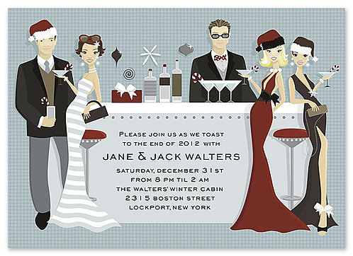 Holiday Bar Party and  Event Invitation