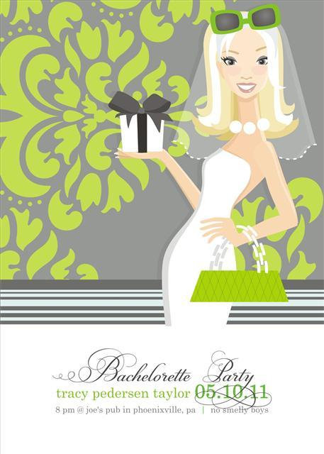 Blonde with Shower Gift Bridal Shower and  Event Invitation