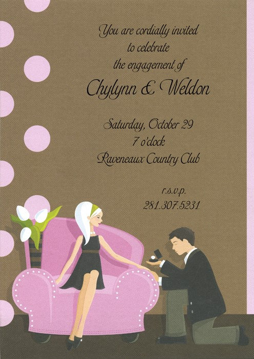 Pop the Question Bridal Shower and  Event Invitation