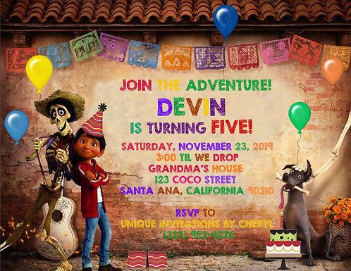 Coco Fun Birthday Invitation (sold in sets of 10