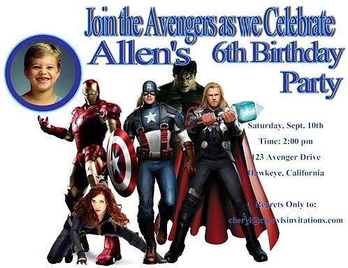 #2 Avengers Birthday Party Invitation