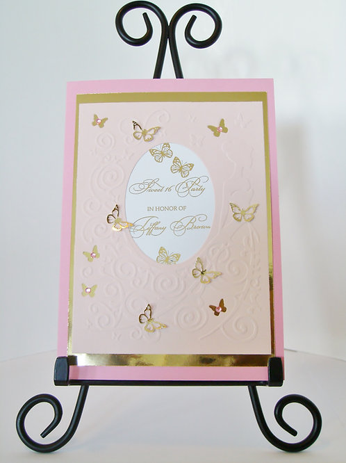 Butterfly Princess Sweet 16 Birthday Invitation