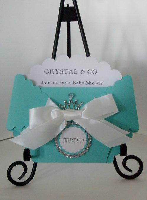 Tiffany & Co Diaper Invitation