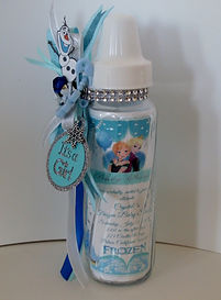 Frozen Keepsake Bottle Invitation
