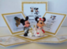Mickey & Minnie Wedding Exploding Box In