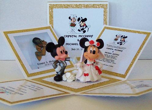 Mickey & Minnie Wedding Custom Exploding Box Event Invitation