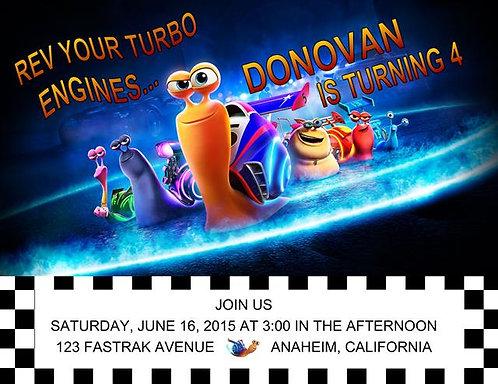 Turbo Birthday Party Invitation