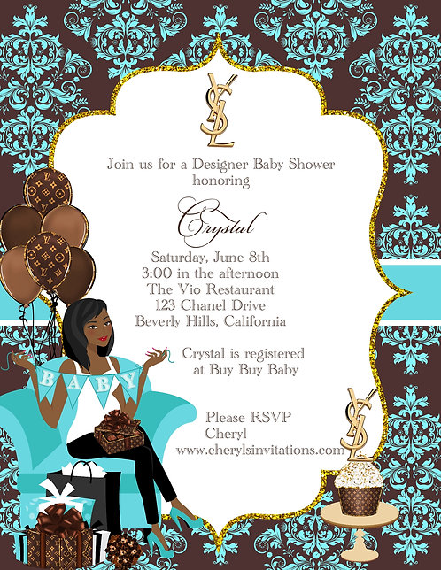 Designer Baby Shower Invitations (sold in sets of 10)