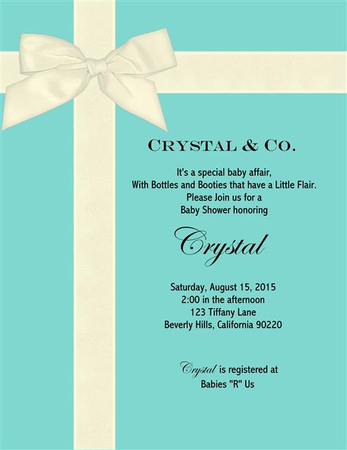 Tiffany And Co Baby Shower Invitations