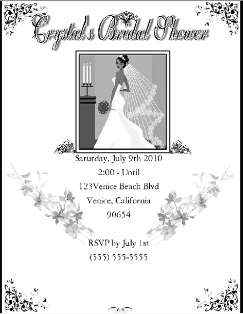 Highstyle Bridal Shower and  Event Invitation