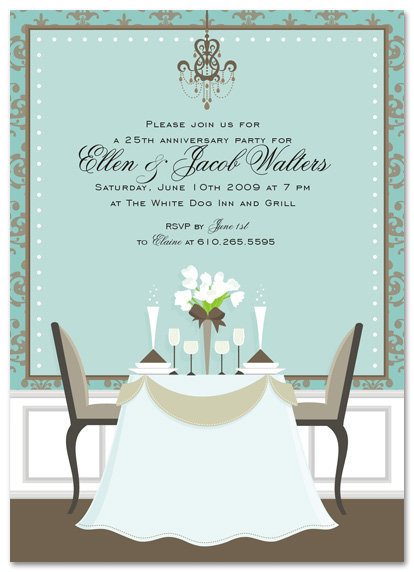 Rehearsal Dinner Table Invitation Party and  Event Invitation