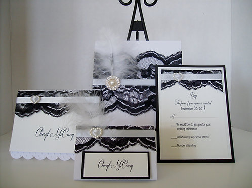 Gatsby Glamour Roaring 20's Wedding and Event Invitation