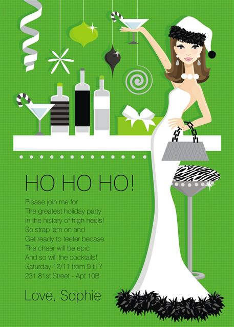 Hip Holiday Hostess Party and  Event Invitation