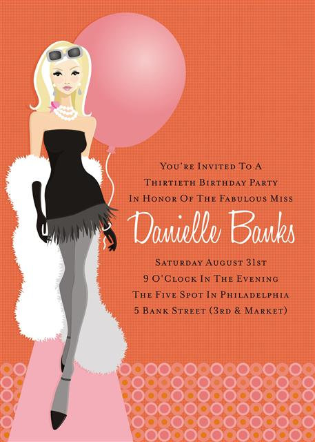 Blonde 30th Birthday Party and  Event Invitation