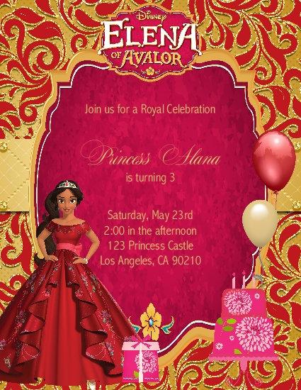 Princess Elena of Avalor Birthday Party Invitation