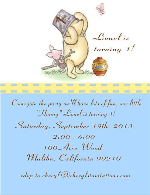 Classic Pooh Boy's Birthday Party Invitation