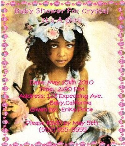Little Girl Shower Baby Shower Invitations