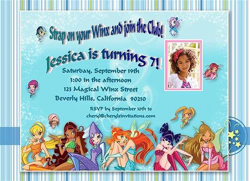 Winx Club Birthday Party Invitation