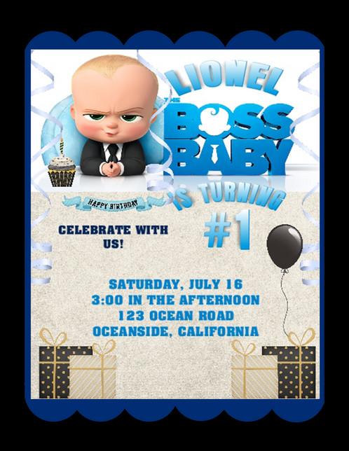 Boss Baby Birthday Party Invitation