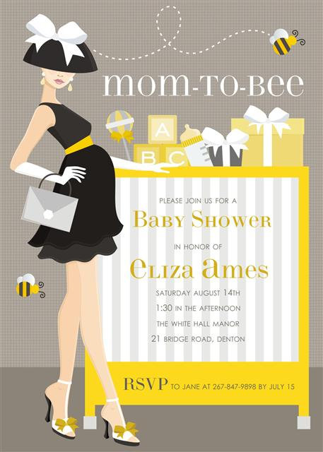 Mom-to-Bee Baby Shower Invitation