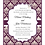 Thumbnail: Wine Damask Wedding / Event Invitation
