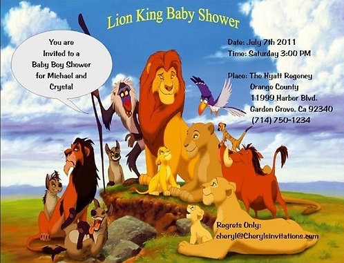 #4 Lion King Baby Shower Invitations
