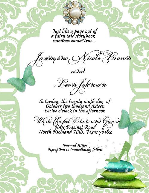 Emerald Princess Wedding / Event Invitation