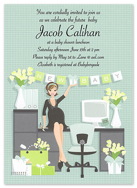 Working Mom Baby Shower Invitations