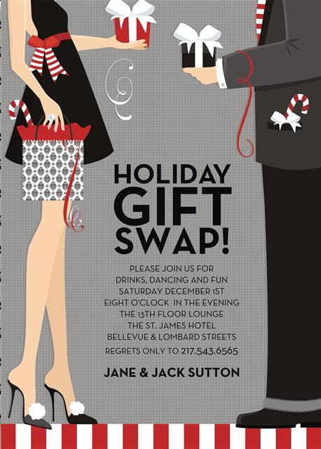Holiday Couples Gift Exchange Party and  Event Invitation