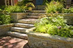Stone Retaining Wall & Walkway Project in Clinton, CT