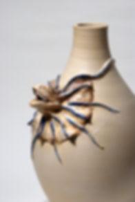 frilled lizard  , frilled art , frilled sculpture , ceramic frilled, ceramic vase ,pottery frilled , ceramic art , animals art , ceramic lizard