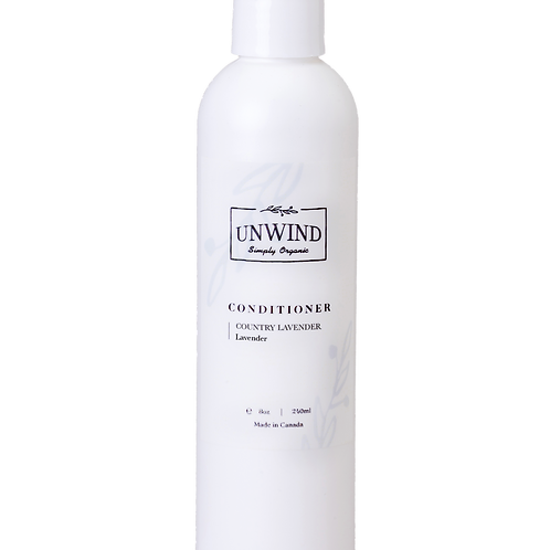 UNWIND Natural and Organic  Country Lavender Conditioner  (Lavender) 8oz/240ml