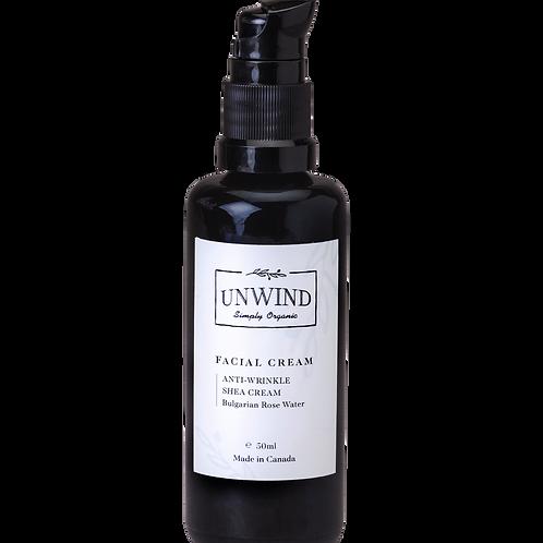 UNWIND Natural and Organic  Anti-wrinkle Facial Shea Cream(Bulgarian Rose Water)