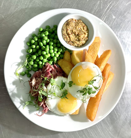 Ham Hock, Egg and Chips