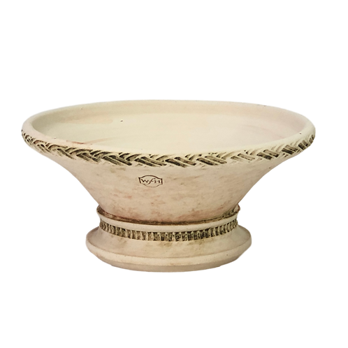 #6 Braided Rim Pedestal Low Bowl