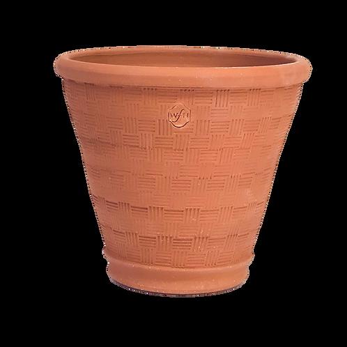 #6 Basketweave, Red Terracotta