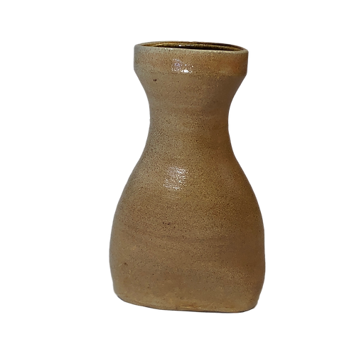 Hourglass Soda Fired Oval Vase