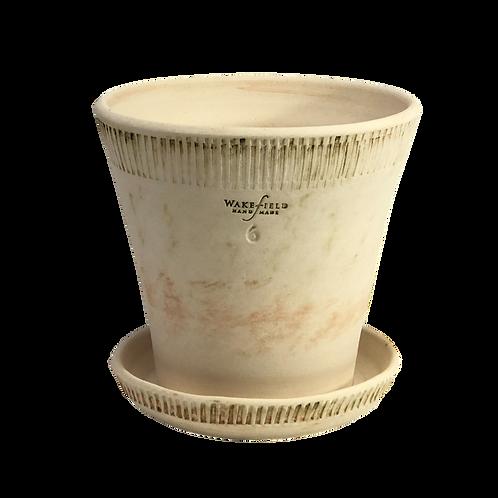 #6 Farnham Pot with Attached Saucer