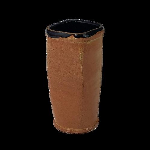Square Soda-Fired Vase