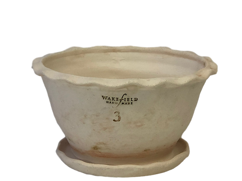 #3 Strasburg Rim Bowl with Attached Saucer