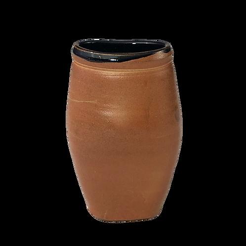 Soda Fired Oval Vase