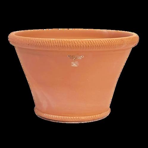 #12 Ornamented Rim Half Pot, Red Terracotta