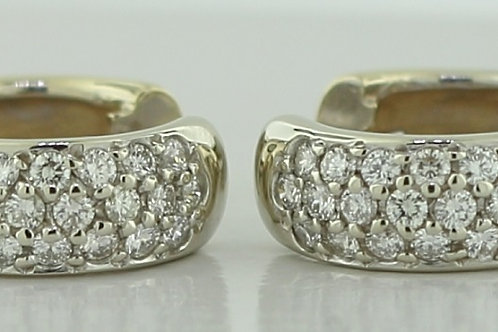0.57 Carat Diamond Accented Hoops