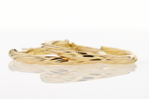 14k Yellow Gold Twist Hoops