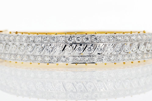 3 Carat Three Row Diamond Slash Bracelet