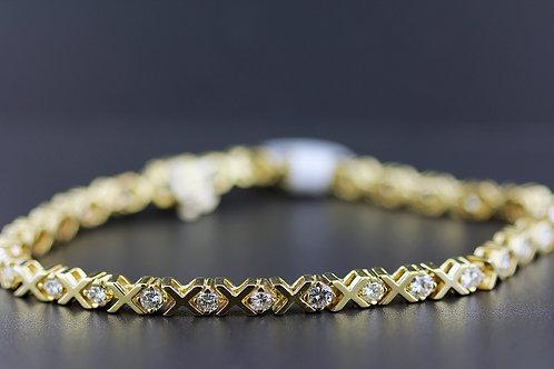 3 Carat Shared X Diamond Tennis Bracelet